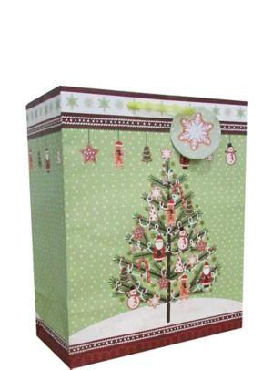 Traditional Tree Christmas Gift Bag