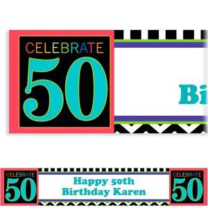 Custom 50th Celebration Banner 6ft