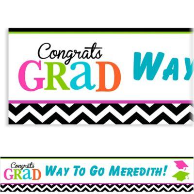 Bright Congrats Grad Custom Banner