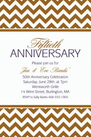 Custom Gold Chevron Invitations