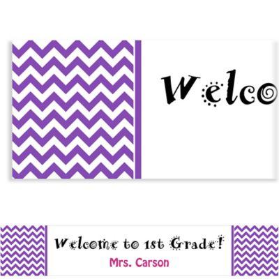 Purple Chevron Custom Banner