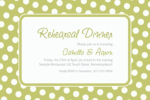 Custom Leaf Green Polka Dot Invitations