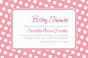 Custom Pink Polka Dot Invitations
