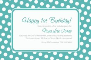 Custom Robin's Egg Blue Polka Dot Invitations