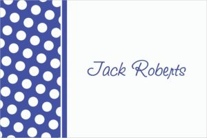 Custom Royal Blue Polka Dot Thank You Notes