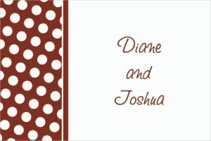 Custom Chocolate Brown Polka Dot Thank You Notes