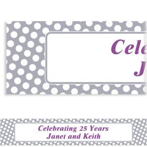 Custom Silver Polka Dot Banner 6ft