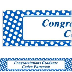 Custom Royal Blue Polka Dot Banner 6ft