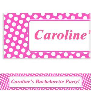 Custom Bright Pink Polka Dot Banner 6ft