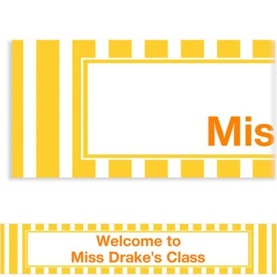 Sunshine Yellow Stripe Custom Banner