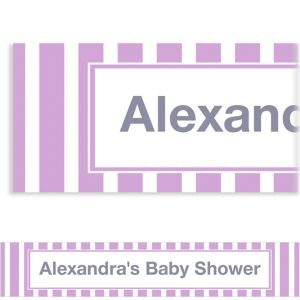 Custom Lavender Stripe Banner 6ft