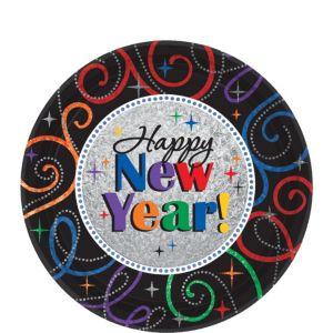 Cheers New Year's Dessert Plates 8ct
