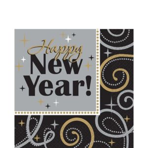 Sparkling New Year's Lunch Napkins 16ct