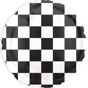 Black & White Checkered Balloon