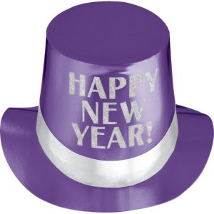 Purple New Year's Top Hat