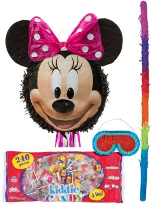 Pull String Smiling Minnie Mouse Pinata Kit