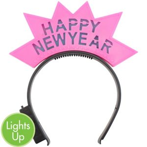 Light-Up Pink Happy New Year Headband