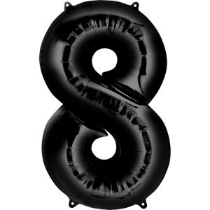 Number 8 Balloon - Black