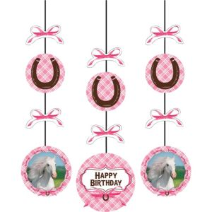Heart My Horse String Decorations 3ct