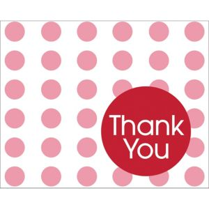Red Polka Dot Thank You Notes 8ct