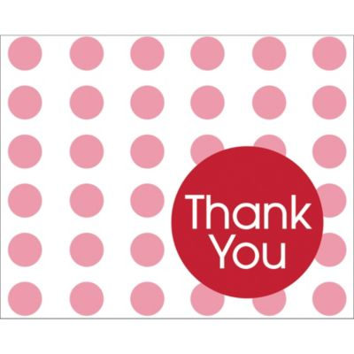 Red Dot Thank You Notes 8ct
