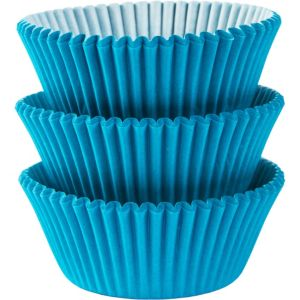 Caribbean Blue Baking Cups 75ct