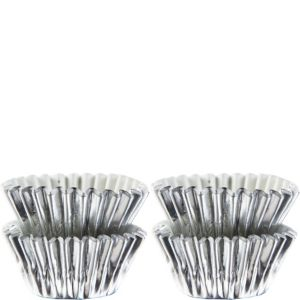 Mini Silver Baking Cups 75ct