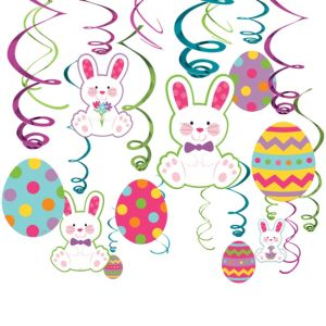 Easter Bunny Swirl Decorations 30ct