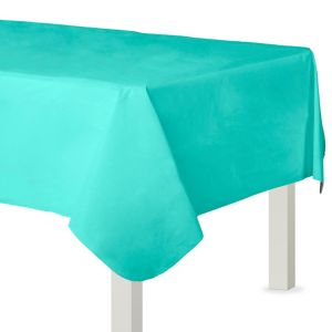 Robin's Egg Blue Flannel-Backed Vinyl Tablecloth