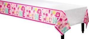 Wild at One Girl's 1st Birthday Table Cover