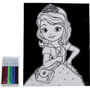 Sofia the First Velvet Coloring Poster with Markers