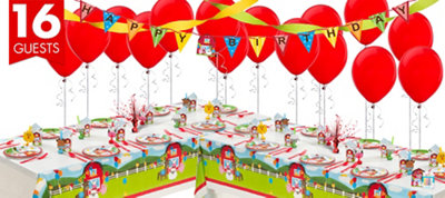 Farmhouse Fun 1st Birthday Party Supplies Deluxe Party Kit