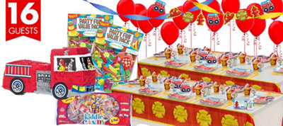 Firefighter Party Supplies Ultimate Party Kit