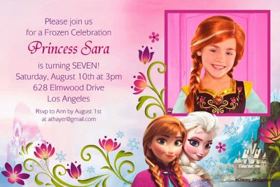 Custom Frozen Photo Invitations