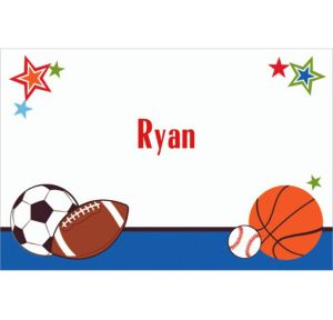 Custom Play Ball Party Thank You Notes