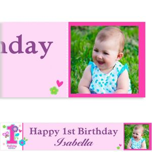 Custom Sweet Birthday Girl Photo Banner 6ft