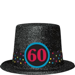 Glitter 60th Birthday Top Hat