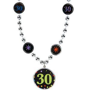 30th Birthday Pendant Bead Necklace