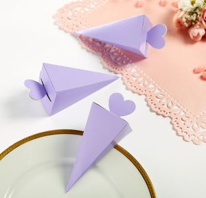 Lilac Cone Favor Boxes 50ct