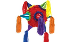 Rainbow 8-Point Star Pinata
