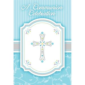 Boy's Communion Invitations 8ct