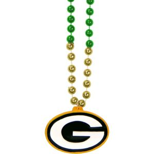 Green Bay Packers Pendant Bead Necklace