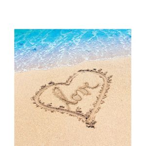 Beach Love Lunch Napkins 16ct
