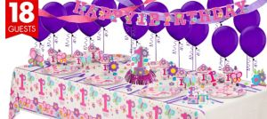 Sweet Girl 1st Birthday Party Supplies Super Party Kit