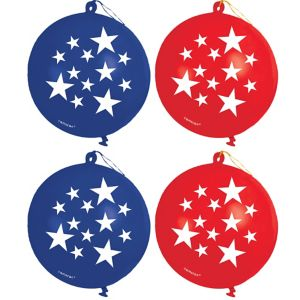Patriotic Punch Balloons 4ct