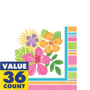 Colorful Hibiscus Beverage Napkins 36ct
