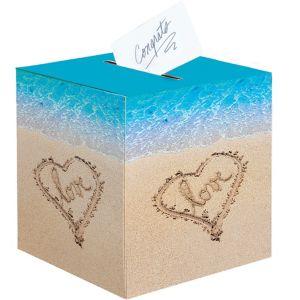 Beach Love Wedding Card Holder Box