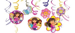 Dora and Friends Swirl Decorations 12pc