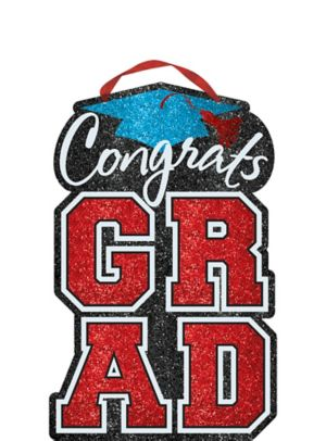 Multicolor Glitter Graduation Sign
