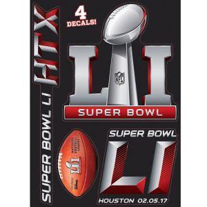 Super Bowl Decals 4ct